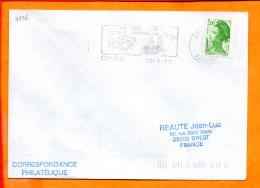 "ARDECHE, Cruas, Flamme SCOTEM N°9596, ""vieux Vilage Abbatiale XIe"" - Mechanical Postmarks (Advertisement)"