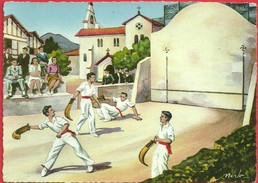 64 - PYRENEES ATLANTIQUES - Illustrateur - Merlo - Pelote Basque - France