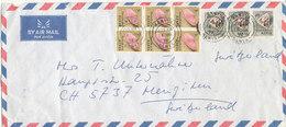 Kenya Air Mail Cover Sent To Switzerland Nanyuki 16-1-1973 Topic Stamps - Kenia (1963-...)