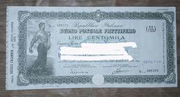 Buono Postale Fruttifero - Lire Cento Mila - Banque & Assurance