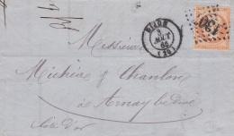 FRANCE  :  Empire 31 Sur LaC Du 08 08 1865      GC 1307  DIJON (20) - Marcophilie (Lettres)