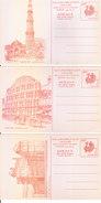 INDIA - 1989 SET OF 7V COMMEMORATIVE POST CARD ISSUED ON THE OCASSION OF INDIA 1989 WORLD PHILATELIC EXHIBITION - UNUSED - India