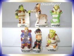 Shrek Le Troisième De 2007... Lot De 6 Fèves ... Ref. AFF : 95-2008 (pan 005) - Disney