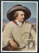 Allemagne  - Carte Maximum 1950 Goethe