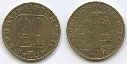 Austria - 1983 - 20 Schilling - Hochosterwitz Castle - KM 2960 - XF - Austria