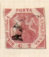 ITALIE (Anciens états) - 1858 - NAPLES (Royaume) - N° 3a - 2 G. Rose-lilas - Naples