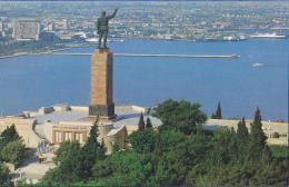 Carton Photo, Format 9 X 13.8 - Baku - Statue De Lénine Surplombant Le Port - Pas Circulé, Carte Coupée - Azerbaïjan