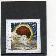 """FRANCE   Lettre Verte   2016   10eme Timbre De La Série """"Correspondances Planétaires""""  Adhésif   Sur Fragment   Oblitéré - Adhesive Stamps"""