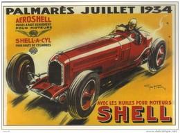 CPM - CENTENAIRE Editions - GRANDS PRIX - 2 - Palmarès Juillet 1934 - SHELL - Grand Prix / F1