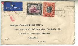 1936 Uganda Kenya Tanganyka Air Mail Cover To Chicago - Kenya, Uganda & Tanganyika