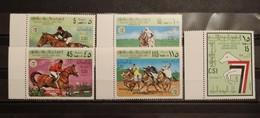 Libya, 1977, Mi: 605/09 (MNH) - Paarden