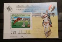 Libya, 1977, Mi: Block 34 (MNH) - Paarden