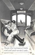 [DC3828] CPA - HUMOR - RIVESTE DI FIOR LA PRIMAVERA IL MANTO E DELL'UCCEL ANCOR NON ODO IL CANTO - NV - Old Postcard - Humor