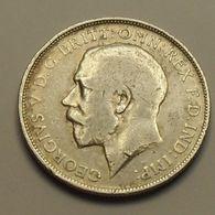 1919 - Grande Bretagne - Great Britain - ONE FLORIN, GEORGE V, Argent, Silver, KM 817 - 1902-1971 : Monnaies Post-Victoriennes