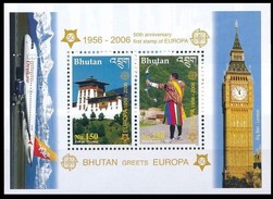 Bhutan Bhoutan 2005 Yvertn°  Bloc 448 *** MNH  Cote 25 Euro 50 Ans Europa 50 Jaar - Bhoutan