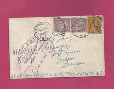 Lettre Des EUAN De 1928 Pour L' Allemagne - Graf Zeppelin  LZ 127 - Oblitération De La Crosse - First Flight - Zeppelins