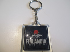 Canada/Alcool/ Plastique/ FINLANDIA/ Vodka Of Finland / Années 80         POC221 - Porte-clefs