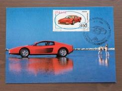 Cartolina Ferrari Testarossa Annullo 1° Giorno Di Emissione Maranello (MO) 4-7-1986 - F.D.C.