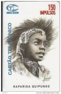 ANGOLA(chip) - Rapariga Quipungo, First Issue 150 Units, Tirage 50000, Used