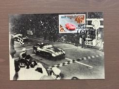 Cartolina Annullo Repubblica San Marino Sul Francobollo 60^ Mille Miglia 22-5-87 - Rallyes