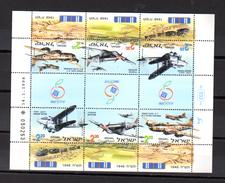 1998 Avions De La Guerre D'Indépendance, Yv. 1405 /1407** En Feuillet De 6, Cote 12 €, - Blocks & Sheetlets
