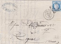 FRANCE  :  Cérès 60 Sur Facture Du 29 05 1875   GC 2539  MORLAIX  (28) - 1849-1876: Classic Period