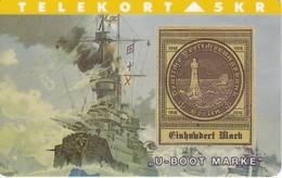 TARJETA DE DINAMARCA CON UN BARCO  (SHIP) SELLO - STAMP DE ALEMANIA - Sellos & Monedas