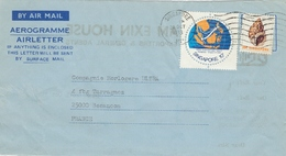 Aérogramme  Oblitération Singapour Du 26/10/ 1978 Pour La Compagnie Horlogère ULTRA à Besançon - Singapour (1959-...)