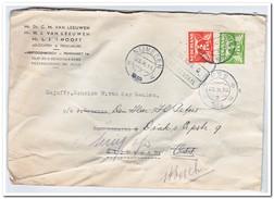 Geweigerde Brief 1939 Van 20.x 's-Hertogenbosch Naar 23.x Nijmegen Vervolgens 25.xOss Treinstempel 25.xArnhem-Roosendaal - Periode 1891-1948 (Wilhelmina)