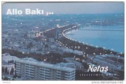 AZERBAIJAN(chip) - View Of Baku Tower, Netas Telecom First Issue, Chip SC5, Mint - Azerbaïjan