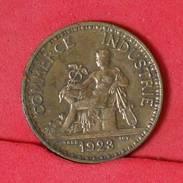 FRANCE 1 FRANCS 1923 -    KM# 876 - (Nº17027) - H. 1 Franc