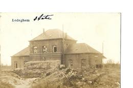 Ledegem Duitse Satatie Station Fotokaart WO I - Ledegem