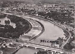 PHOTO ANCIENNE  AERIENNE RARE,PAR LAPIE SERVICE AERIEN,EN AOUT 1958,69,RHONE,LE GRAND LYON - Places