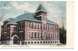 STANTON, Michigan, USA, Stanton Union School, 1914 Hawley Postcard - Etats-Unis