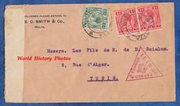 Enveloppe Ancienne De 1916 - MALTA - Stamp & Censor - S.C. Smith & Co - RARE - Envoyé à TUNIS - Malte - Malte