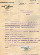 VP7253 - Lettre - Crédit Frécampois - Maison FLEURET & Vve A.LEGROS à FECAMP - Bank & Insurance