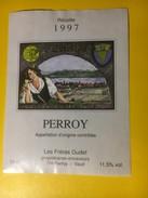 3003  -  Suisse Vaud Perroy 1997 Gudet - Etiquettes