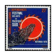 Timbre Nouvelle Calédonie N°397 Festival Des Arts Du Pacifique-Sud - New Caledonia