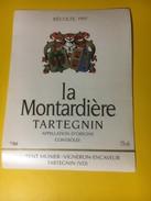 3010  -  Suisse Vaud  La Montardière 1997 Tartegnin - Etiquettes