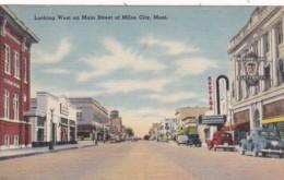 Montana Miles City Looking West On Main Street 1948 - Miles City