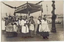 Köln Bischof Felix Von Hartmann + Gäste A Bord Rhein Dampfer 1913 Inthronisierung Bischof Verläßt Dampfer Unte Baldachin - Christianity