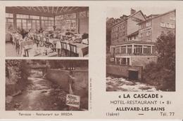 38 ALLEVARD-LES-BAINS HOTEL RESTAURANT LA CASCADE - Allevard