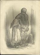 """Arme Donders/""""Pauvres Gens"""" - Eugène Laermans (Lithographie Originale) - Lithographies"""