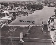 PHOTO ANCIENNE  AERIENNE RARE,PAR LAPIE SERVICE AERIEN,EN AOUT  1959,69,RHONE,COUZON AU MONT D'OR,PRES LYON - Places