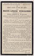 DP Marie-Louise VERHAMME - Wylin - Lendelede - Rollegem-Kapelle - 1852 / 1929 - Obituary Notices