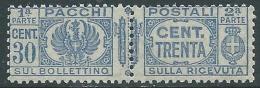 1927-32 REGNO PACCHI POSTALI 30 CENT MNH ** - P47-8 - 1900-44 Vittorio Emanuele III