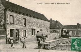 (1) CPA  Auxon  Cafe De La Fontaine Et Lavoir   (bon Etat) - France