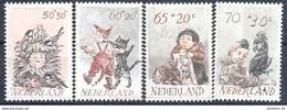 1982 PAYS BAS 1193-96** Enfance, Oiseau, Chats, Lapin - Period 1980-... (Beatrix)