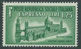 1944 RSI ESPRESSO DUOMO DI PALERMO MNH ** - P48 - 4. 1944-45 Repubblica Sociale