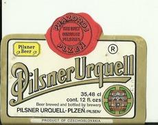 PILSNER URQUELL --  LABEL, ETIQUETTE  --  PLZEN, CZECHOSLOVAKIA - Bier